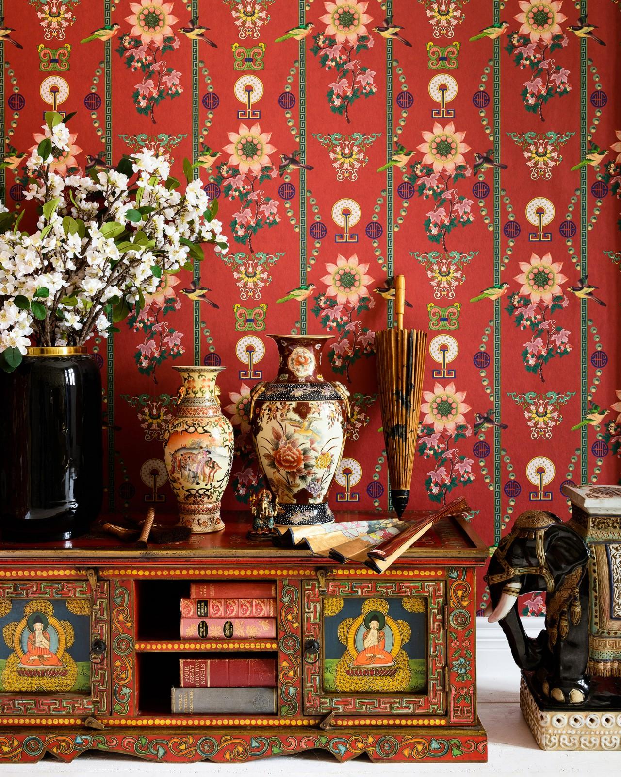 LIN YUAN Absinthe Green Wallpaper