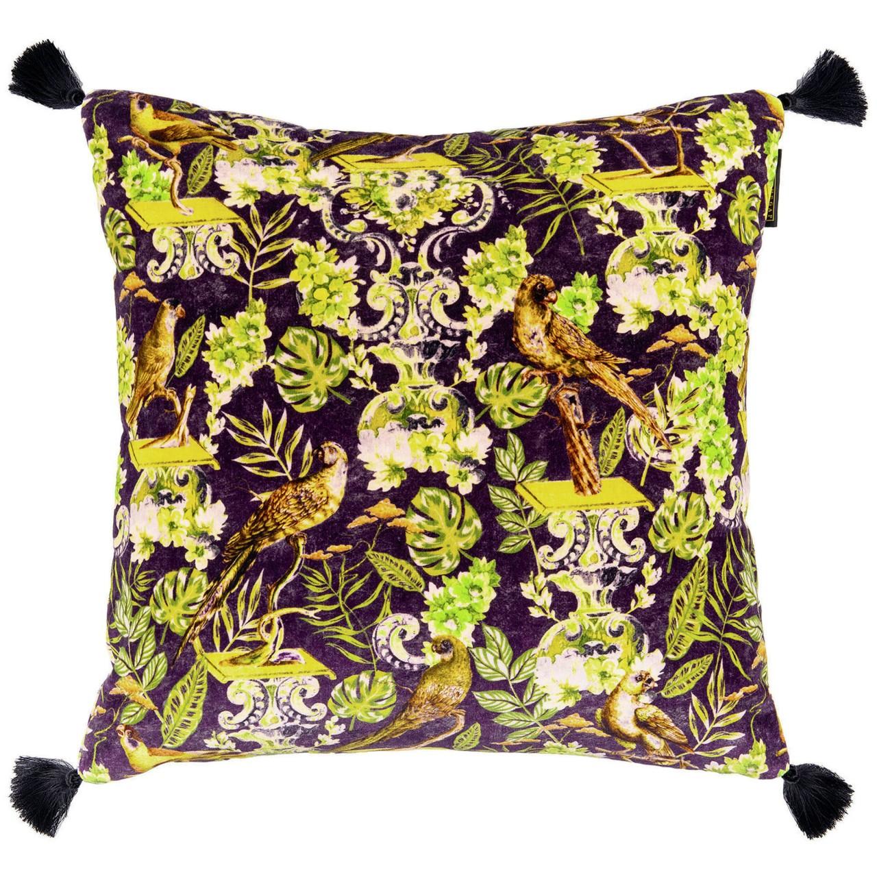 MANOR CREST Velvet Embroidered Cushion