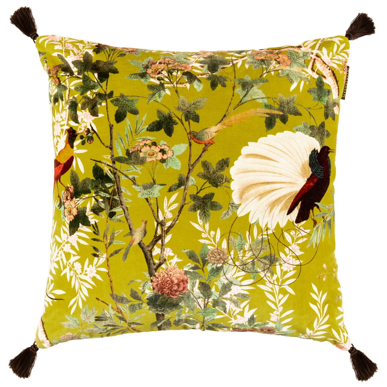 SPANISH EMBROIDERY Velvet Embroidered Cushion