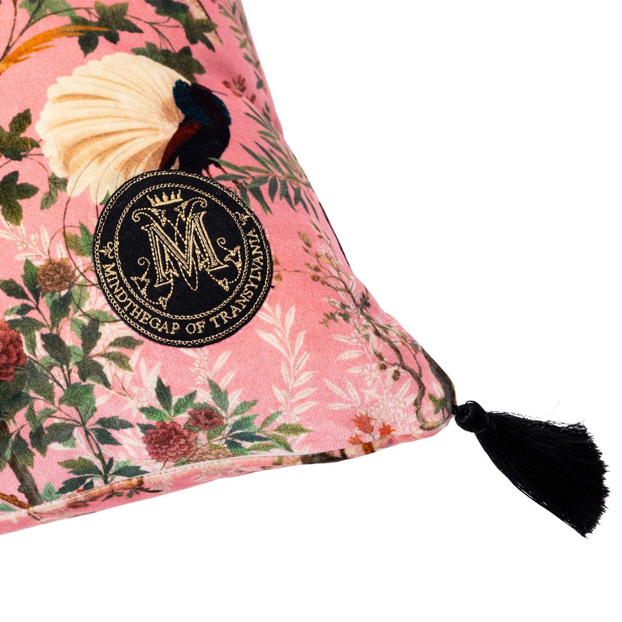 ROYAL GARDEN Pink Velvet Cushion
