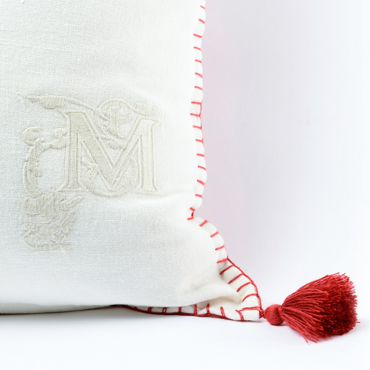 TRANSYLVANIAN SUZANI Linen Embroidered Cushion
