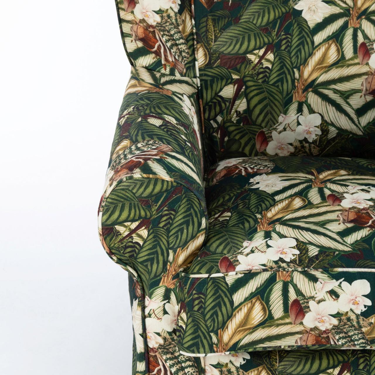 DAKOTA Skirted Chair - ORCHID BLOOM Linen