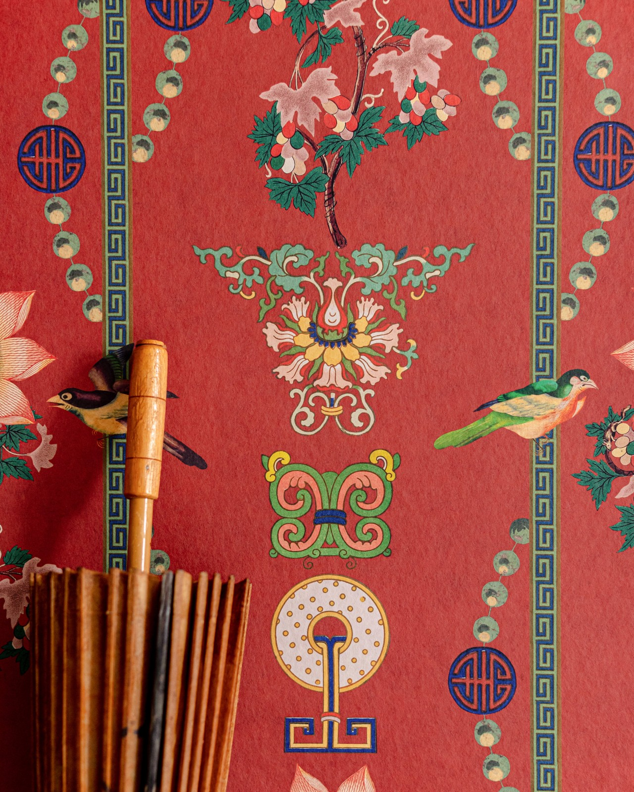 LIN YUAN Chinese Red Wallpaper