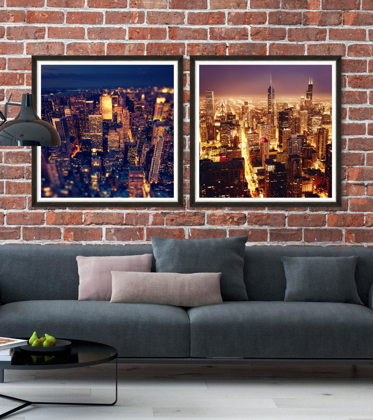 AMERICAN SKYSCRAPERS Set of 2 Framed art