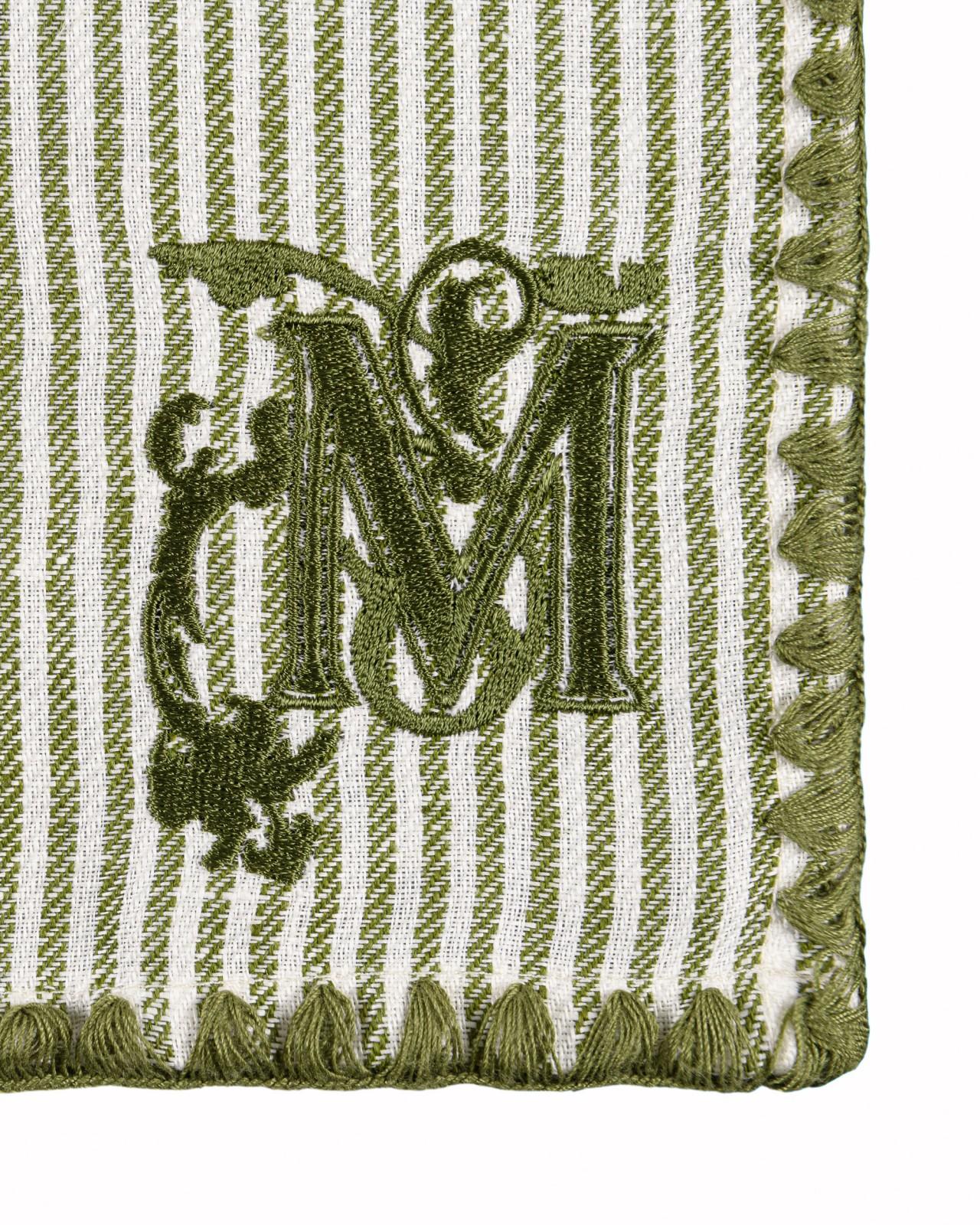 TWILL STRIPE GREEN Monogrammed Napkin Set