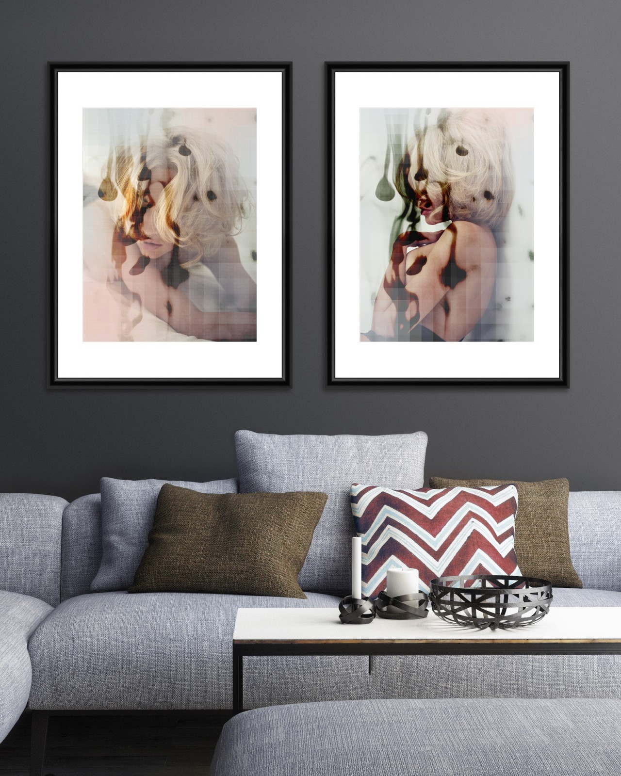 BLONDE PASSION Set of 2 Framed art