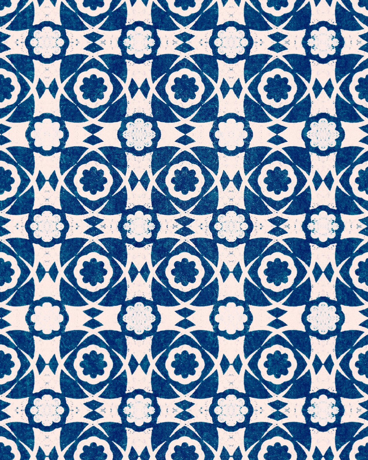 AEGEAN TILES Indigo Wallpaper