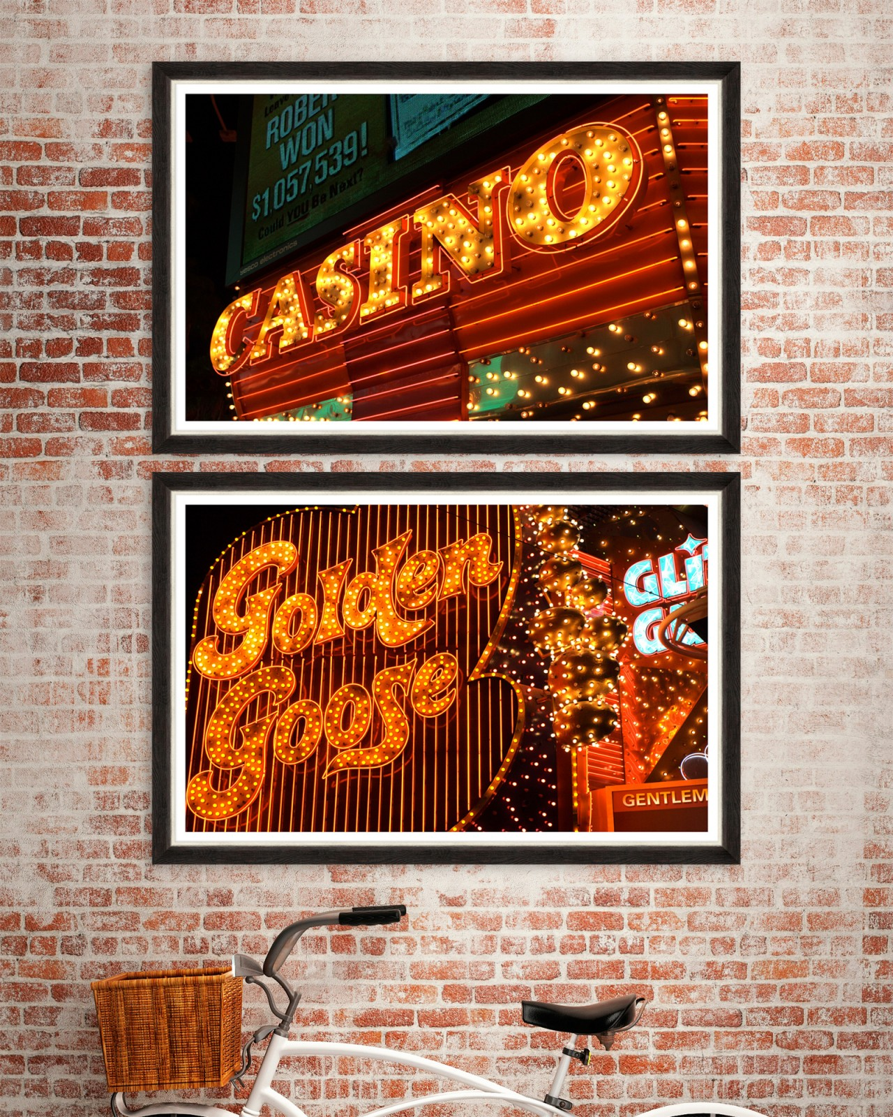 AMERICAN CASINO Set of 2 Framed art