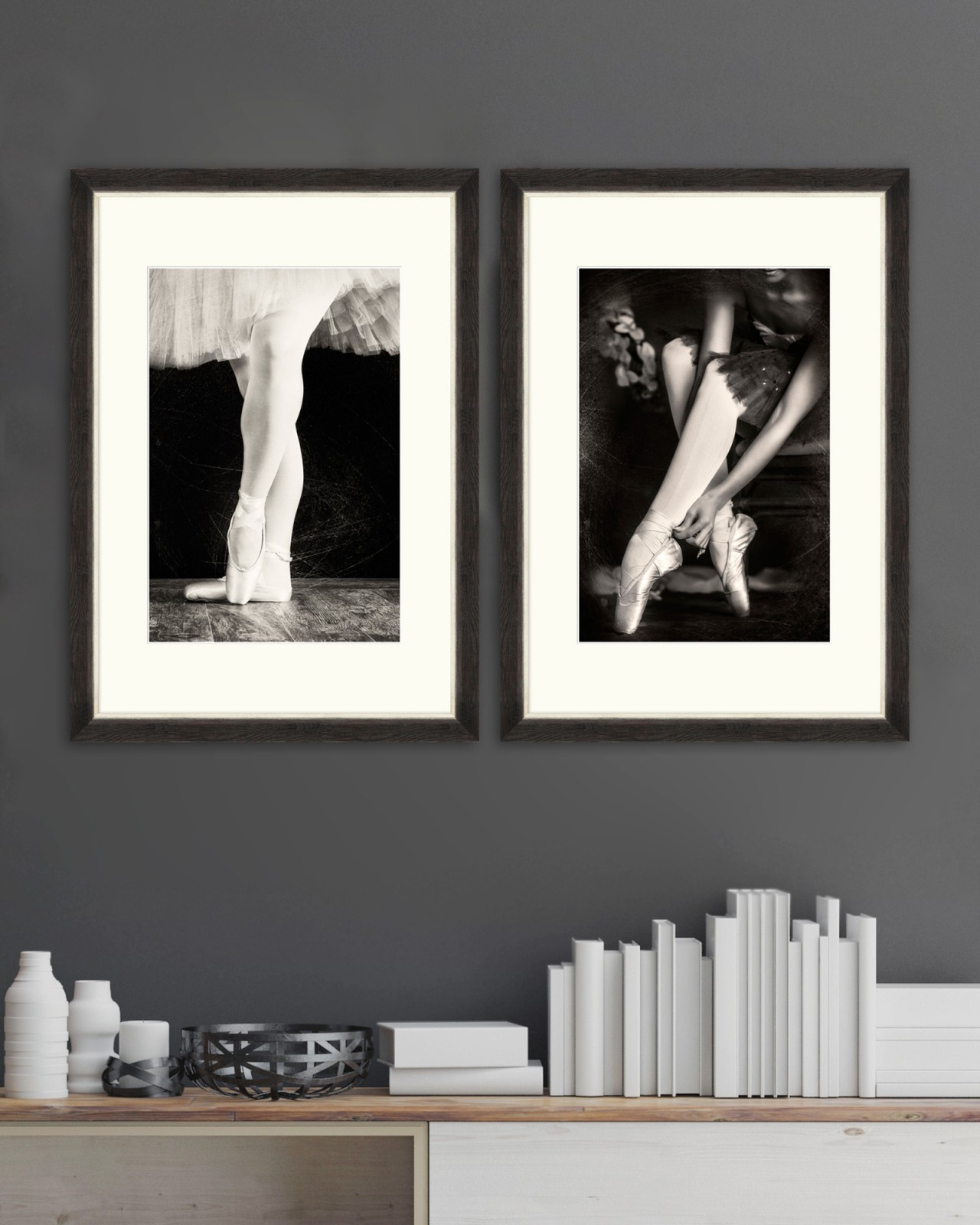 BALLERINAS Set of 2 Framed art