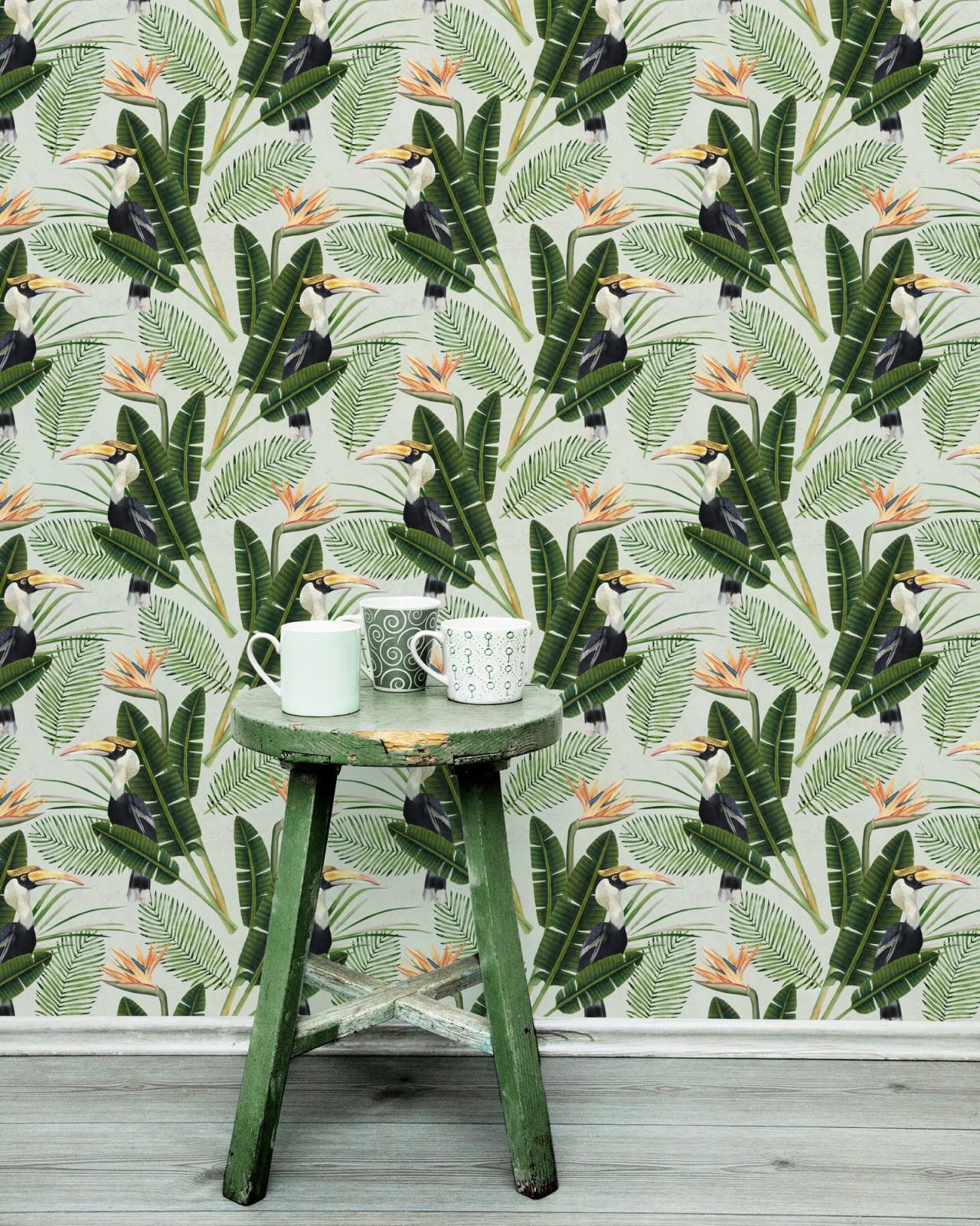 BIRDS OF PARADISE Premium Wallpaper