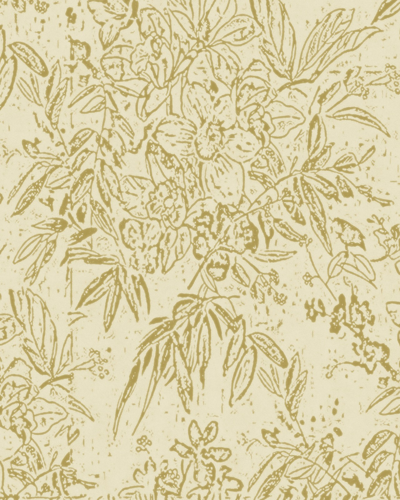 CHERRY ORCHARD Sand Wallpaper