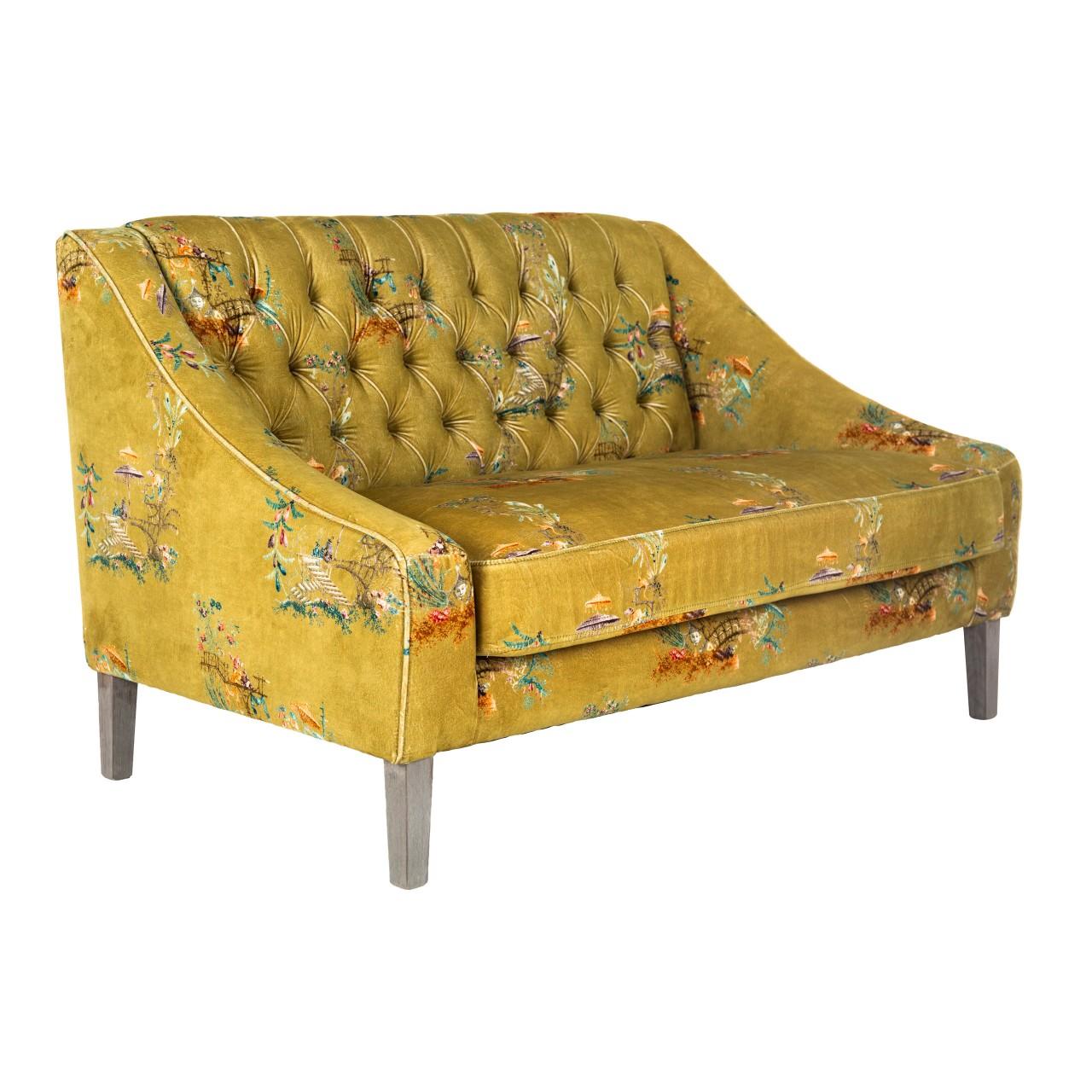BARON Tufted Sofa - CHINOISERIE Velvet