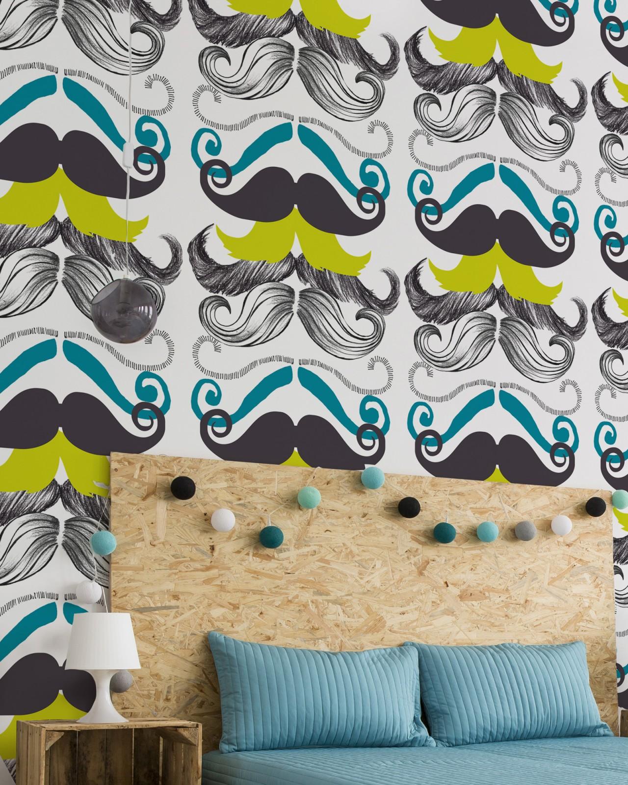 DIFFERENT MOUSTACHES Premium Wallpaper