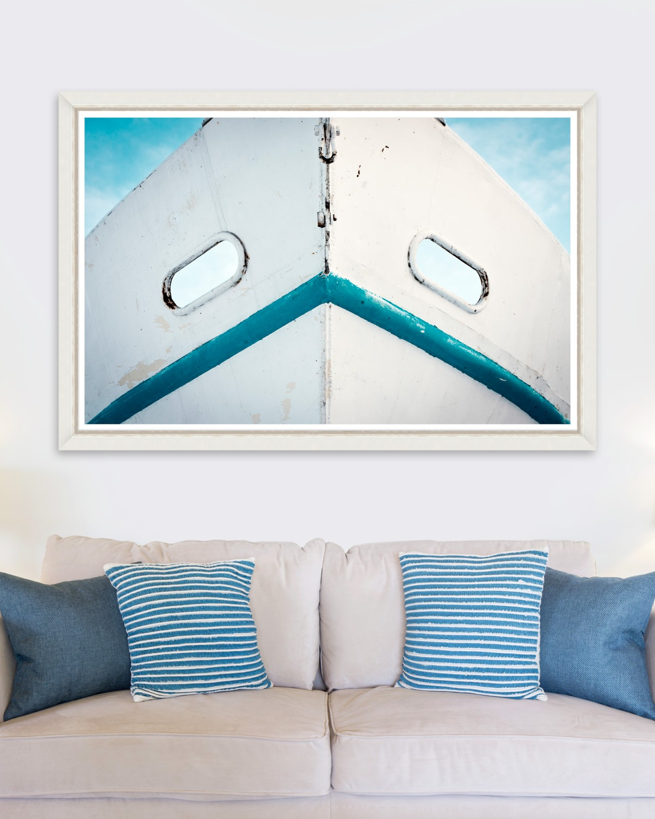 DIRTY WHITE BOAT Framed Art