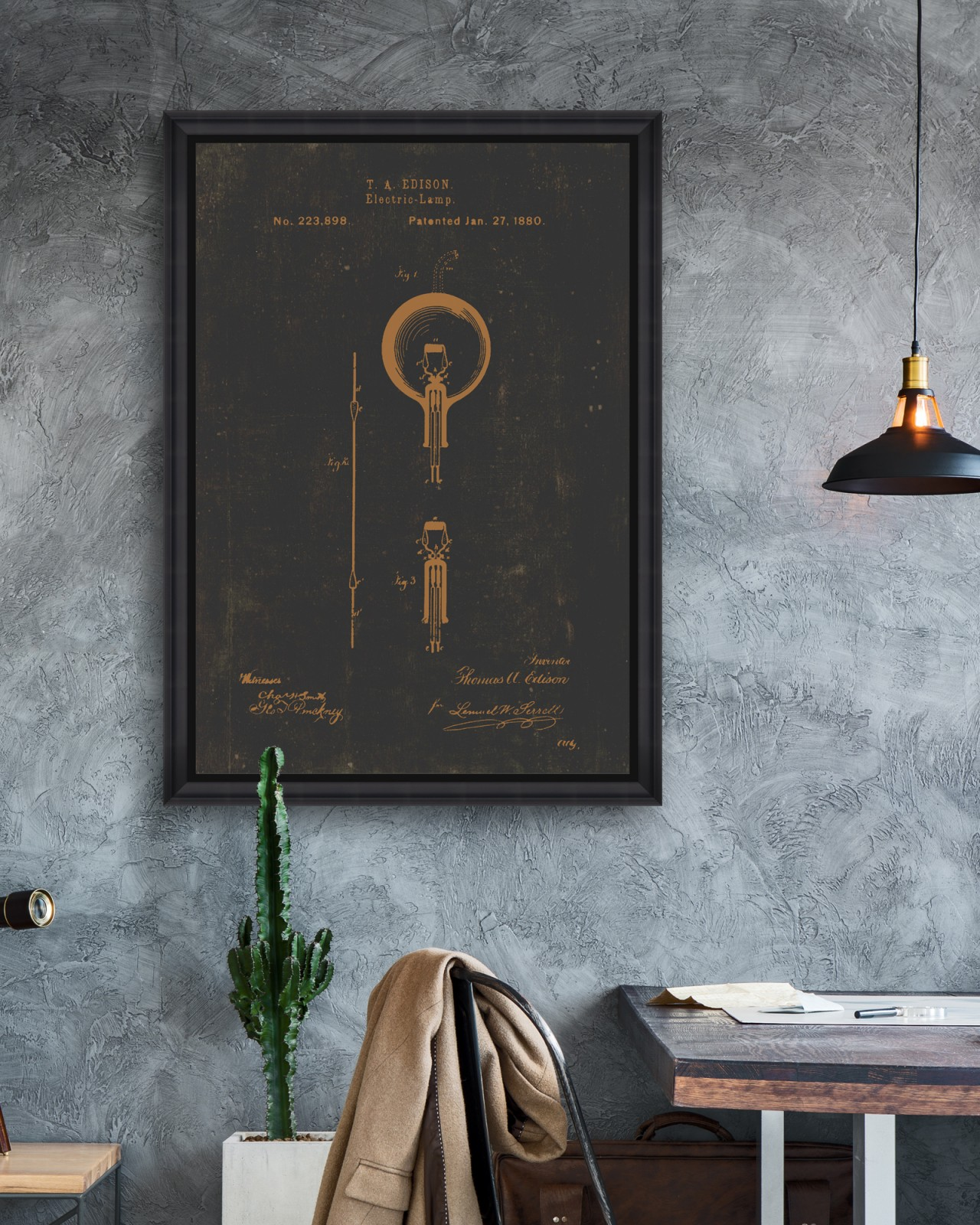 EDISON BULB Framed Art