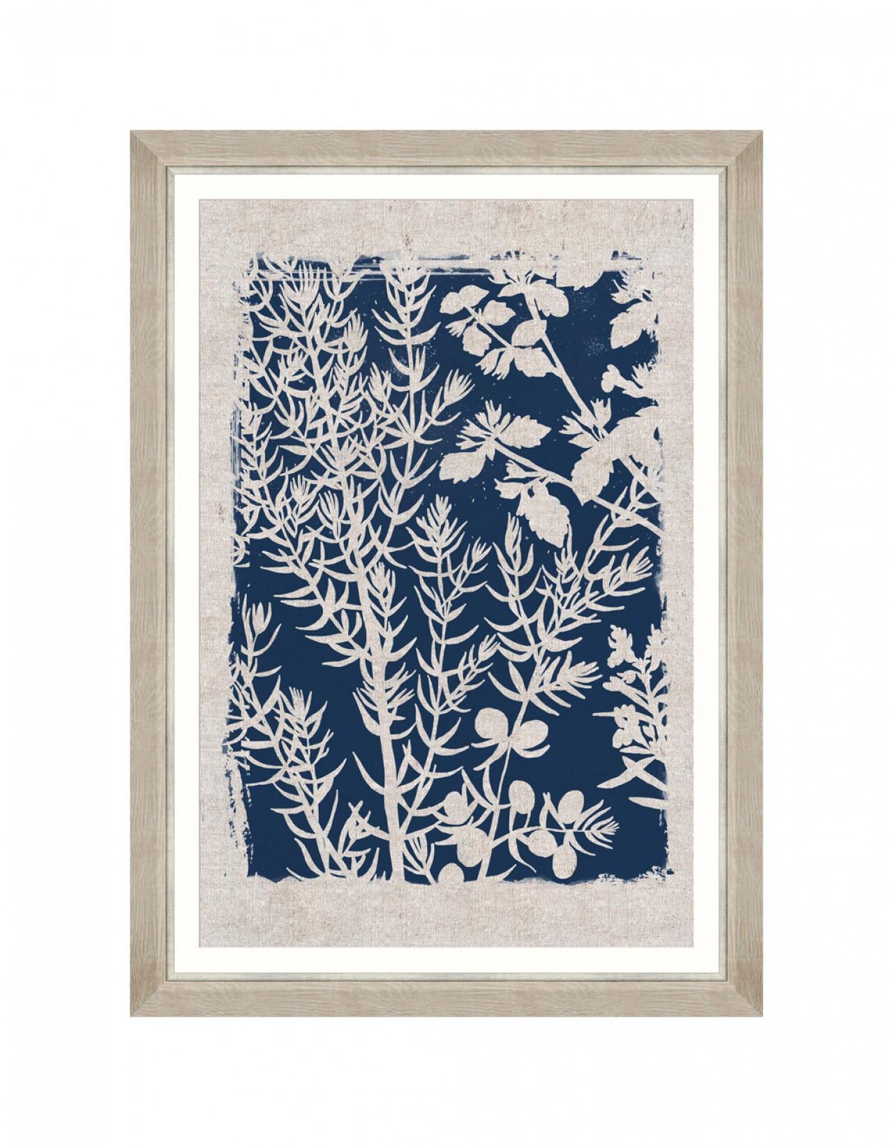 Linocut Florals I Framed art