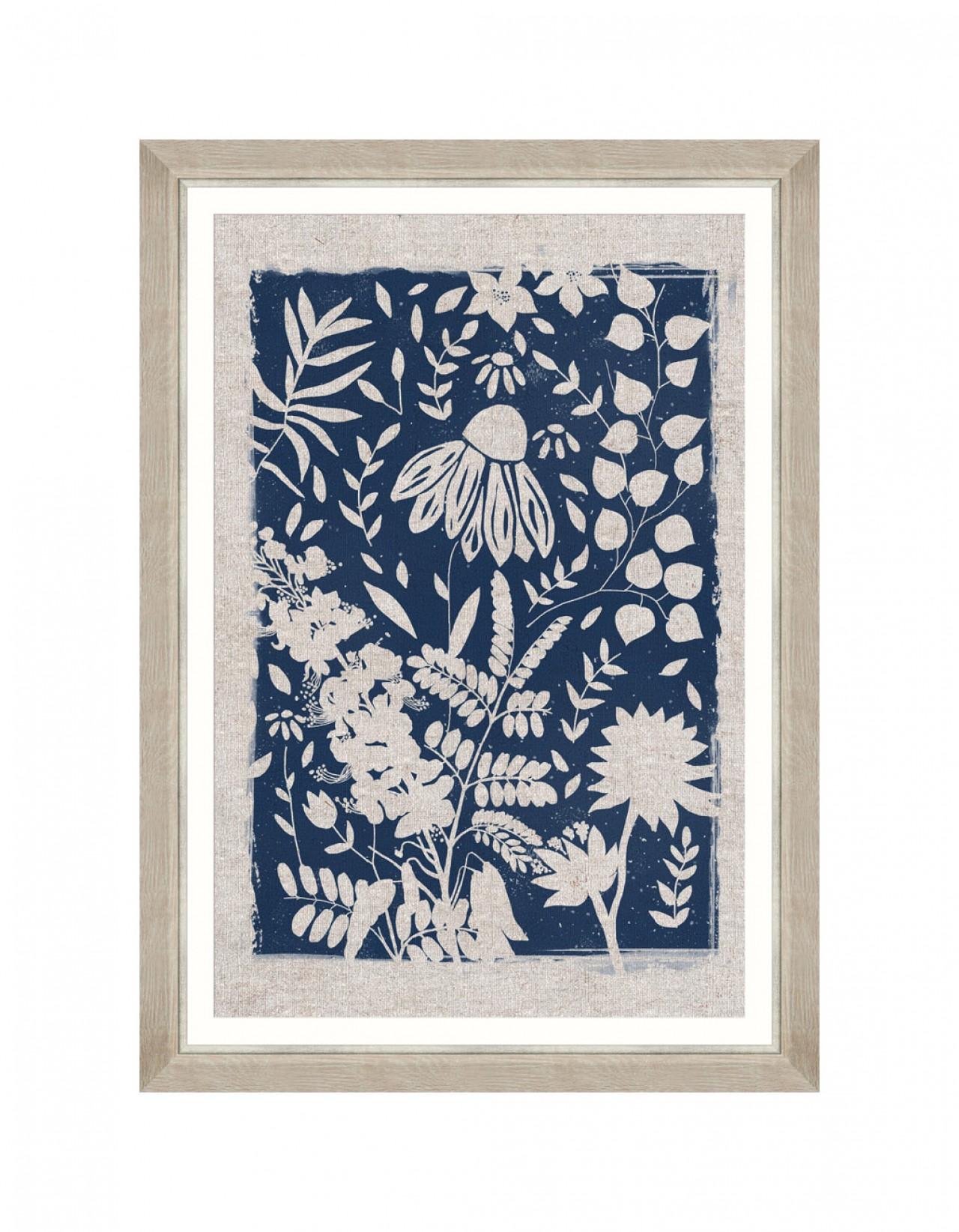 Linocut Florals III Framed art