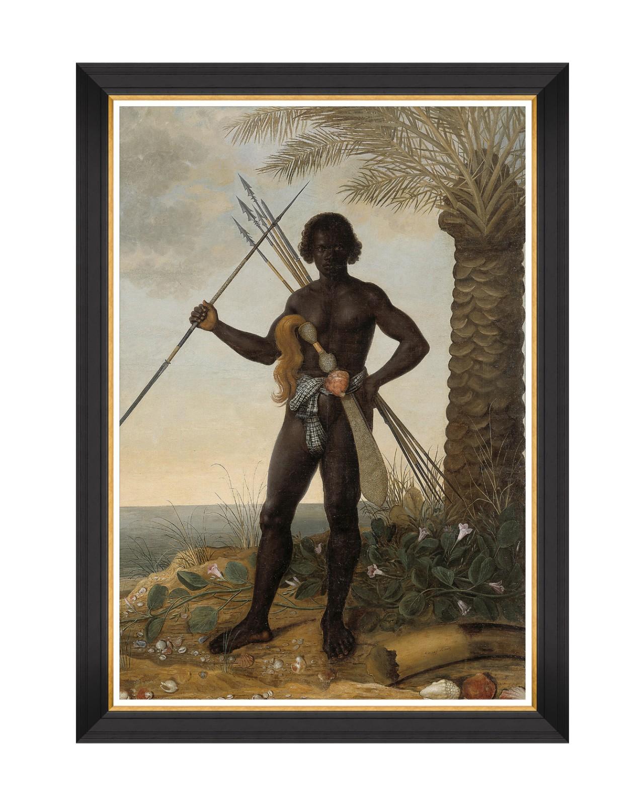 AFRICAN MAN BY ECKHOUT Framed Art