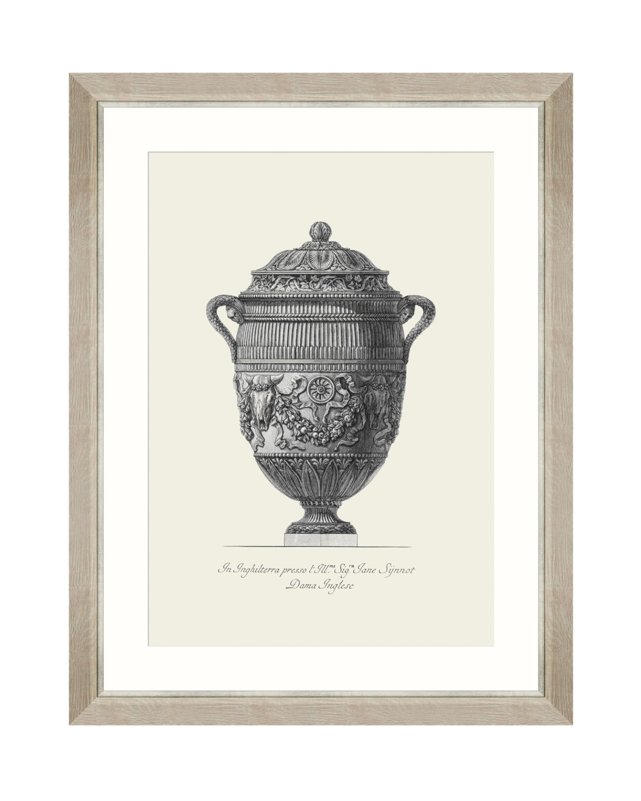 ANTIQUE URN IV Framed Art
