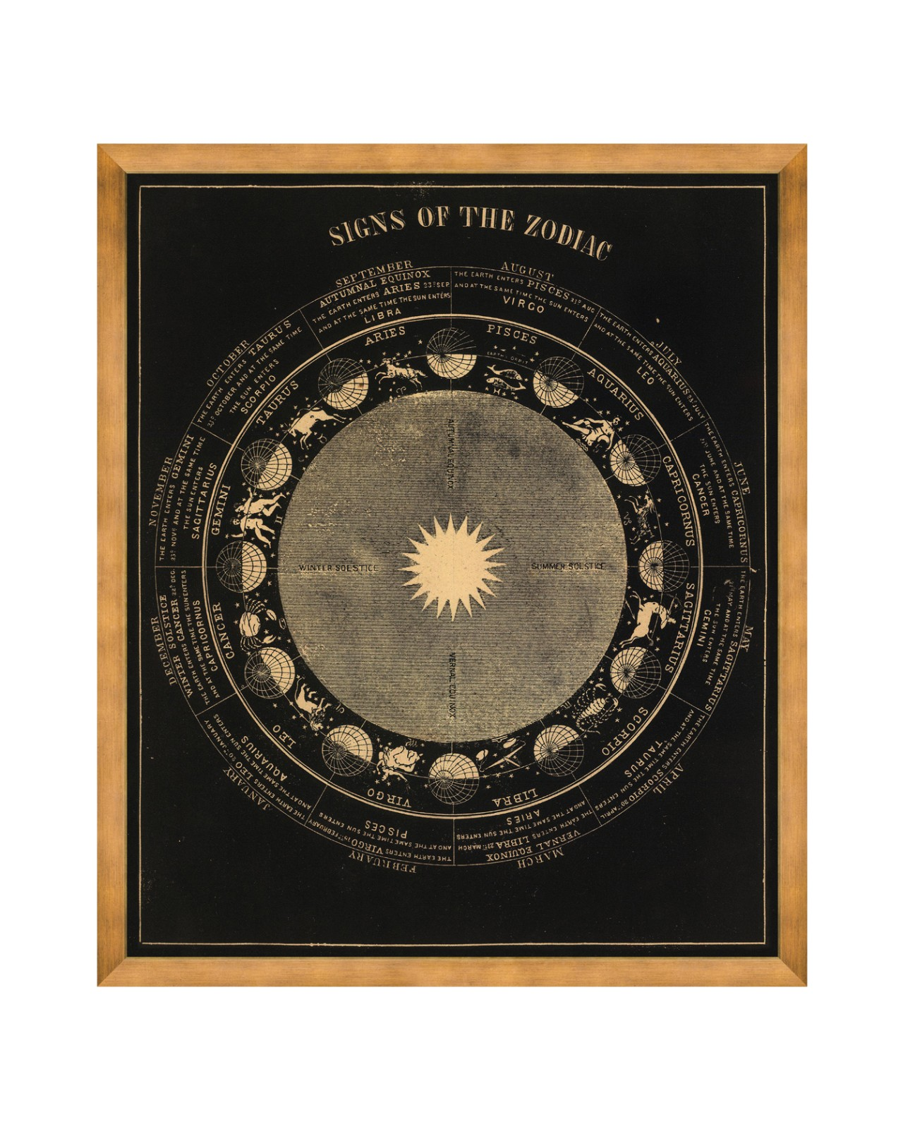 Signs Of The Zodiac Framed Art Wall Art Products