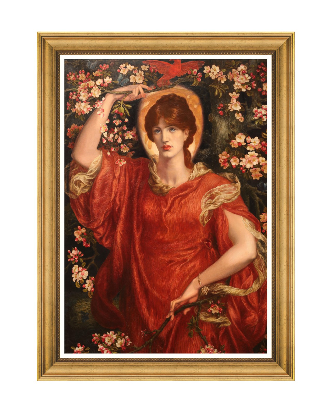 A VISION OF FIAMMETTA BY ROSETTI Framed Art