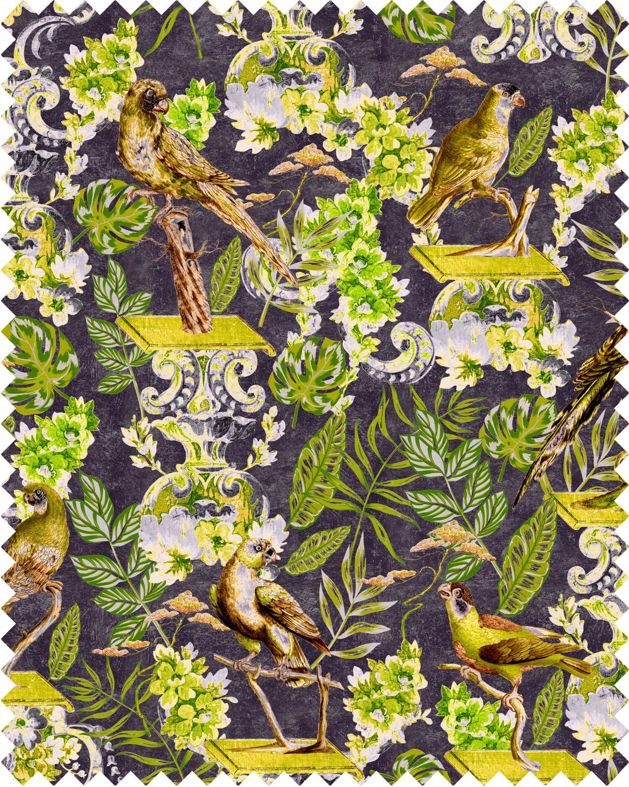 LA VOLIERE Velvet Fabric Sample