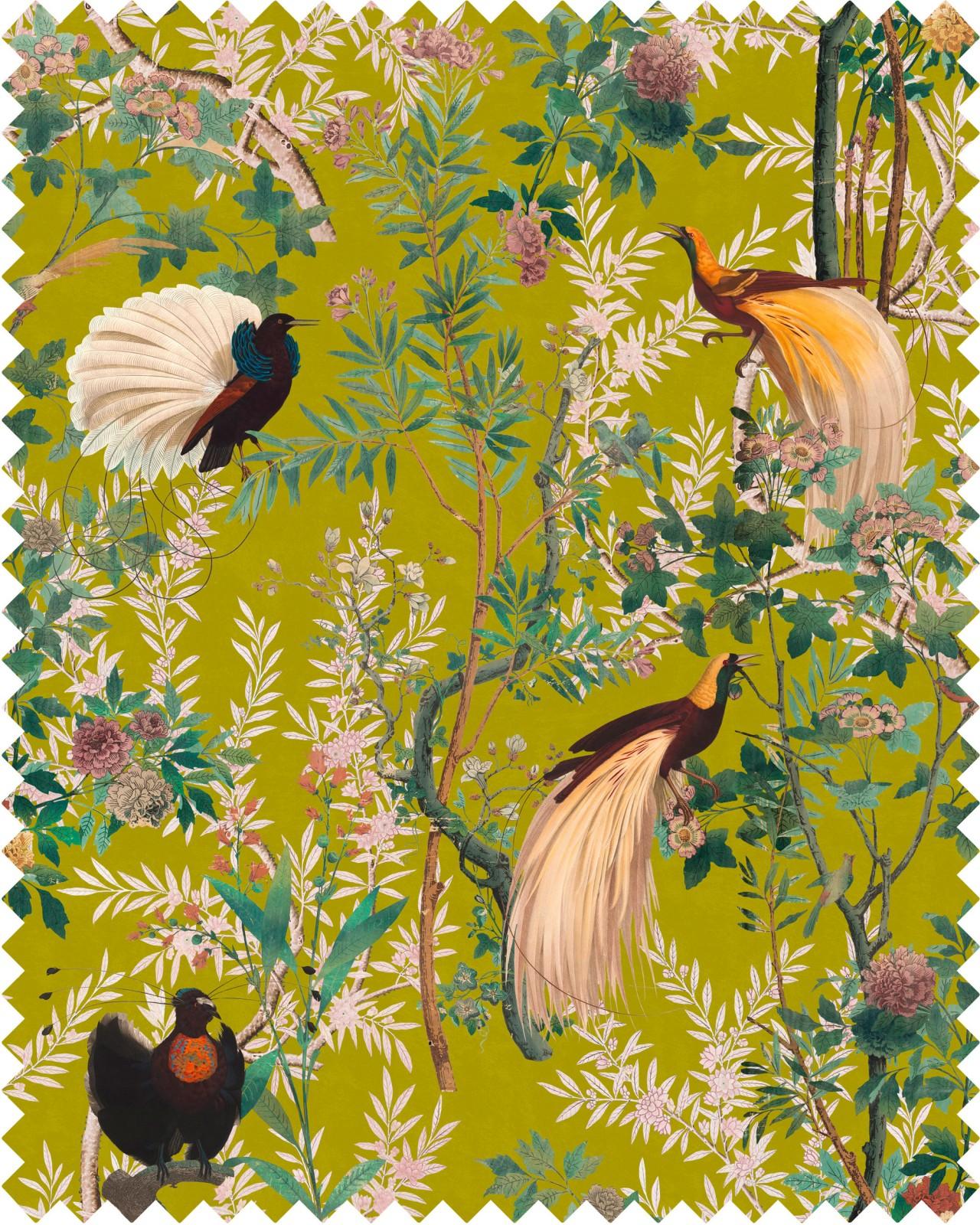 ROYAL GARDEN Green Velvet Fabric Sample