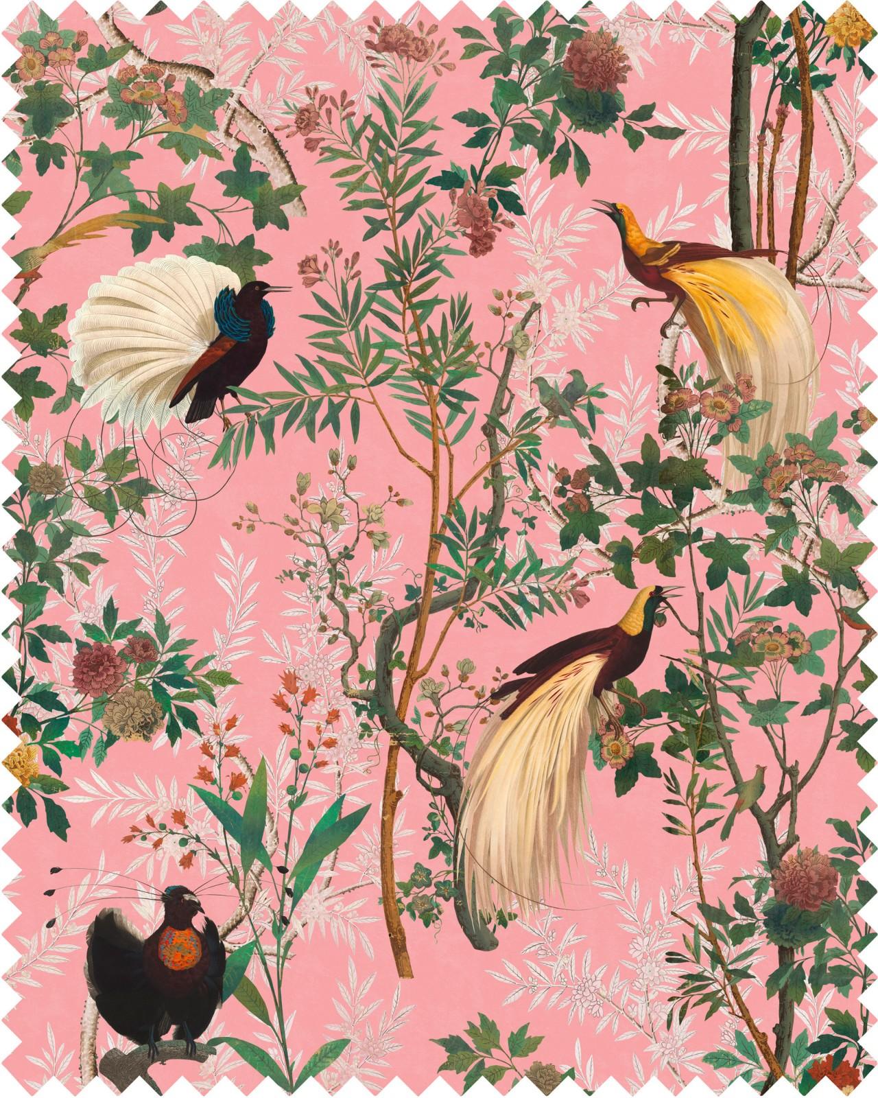 ROYAL GARDEN Pink Velvet Fabric Sample