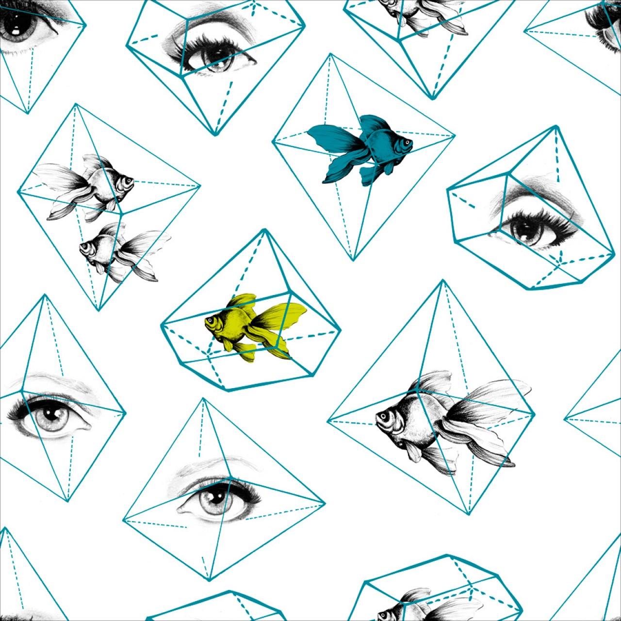 FISH EYE Premium Wallpaper