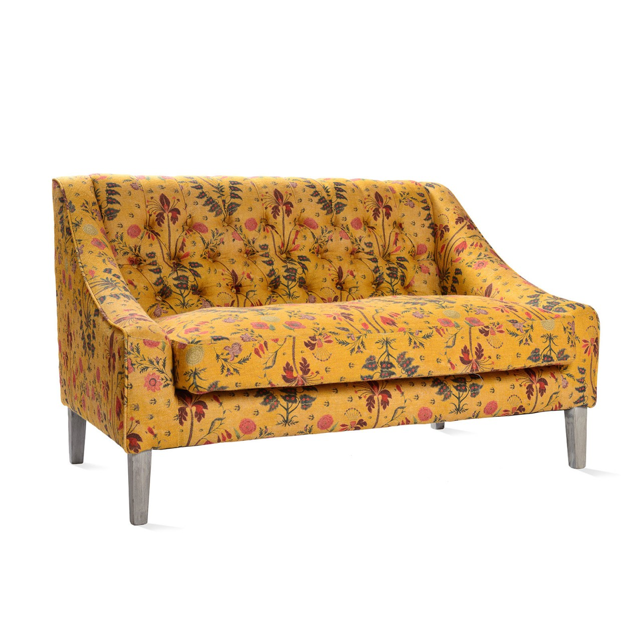 TUFTED SOFA - Gypsy Ochre Linen