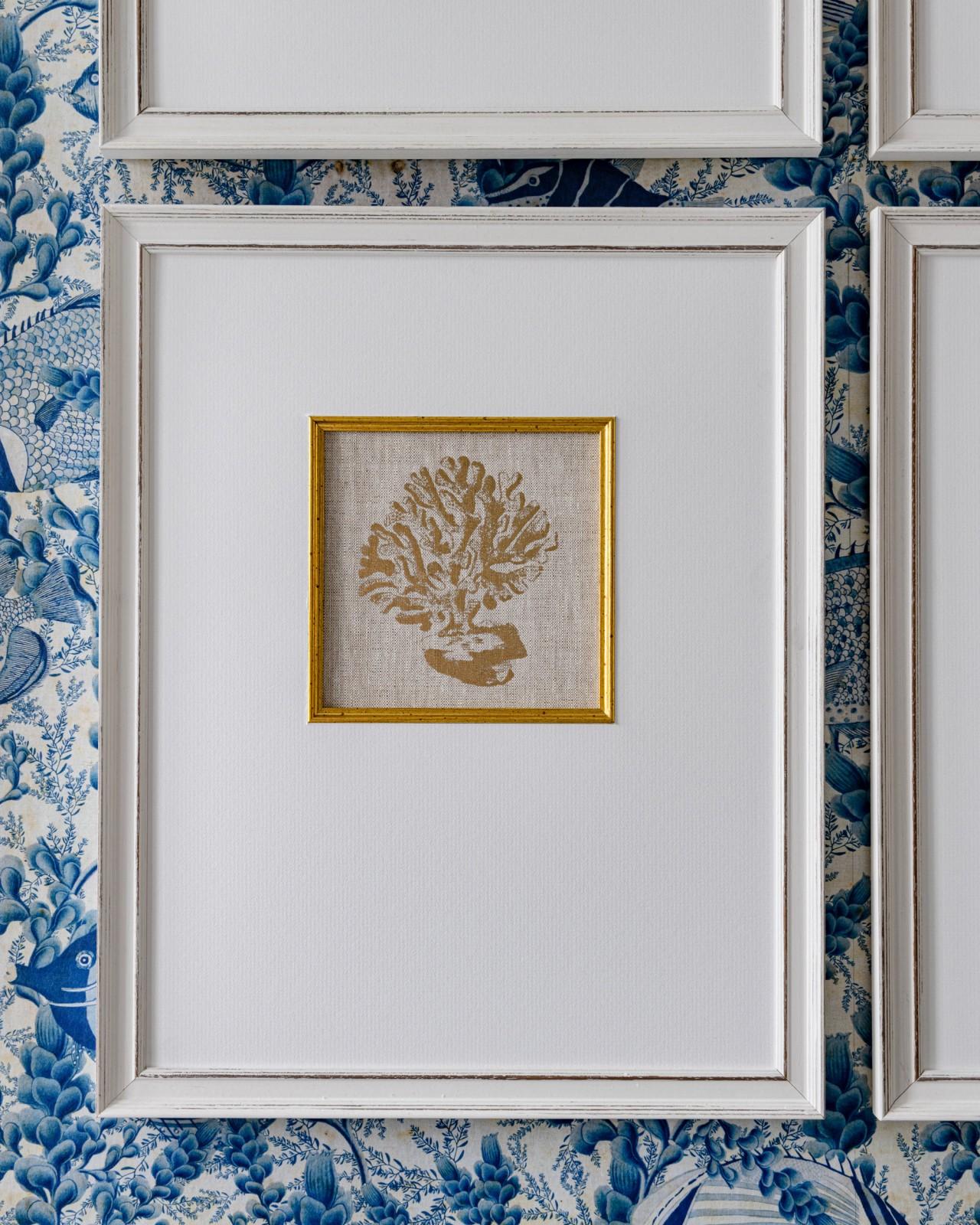 MEDITERRANEAN GEMS - CORAL Framed Linen