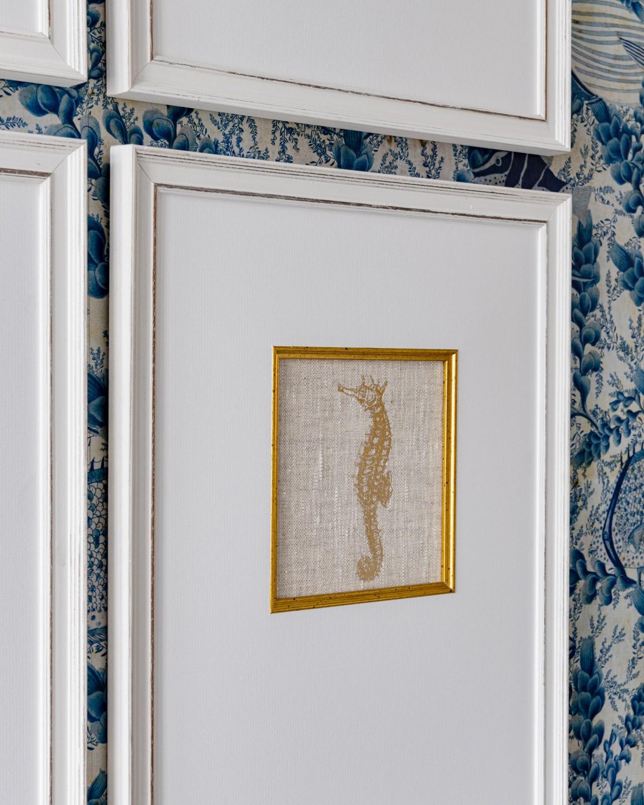 MEDITERRANEAN GEMS - SEAHORSE Framed Linen