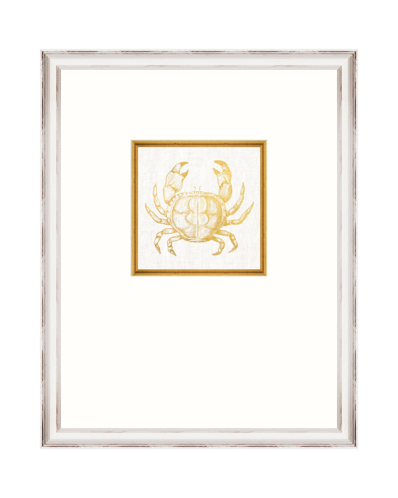 MEDITERRANEAN GEMS - CRAB Framed Linen