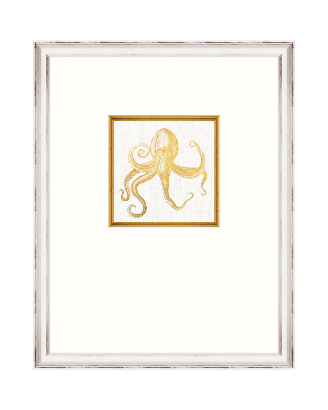 MEDITERRANEAN GEMS - OCTOPUS Framed Linen