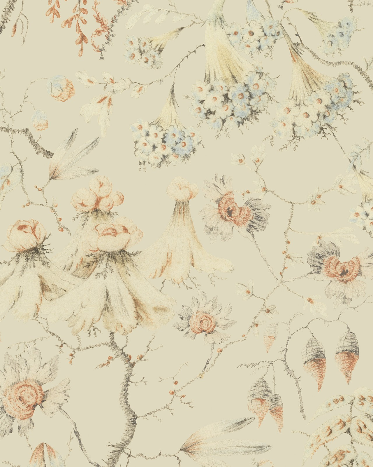 GRANDMA'S TAPESTRY Bluewash Wallpaper