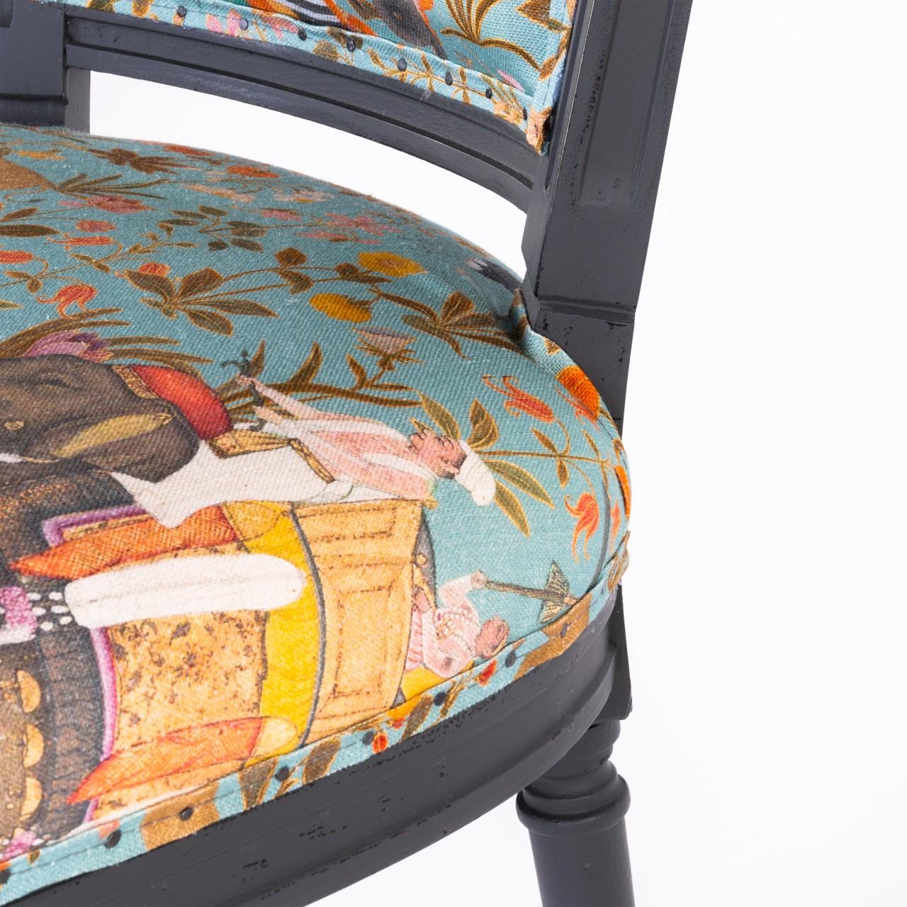 PROVENCE Dining Chair - HINDUSTAN AQUAMARINE Linen