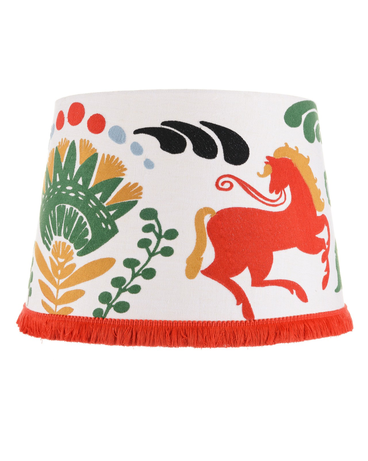 HORSE PARADE Embroidered Lampshade
