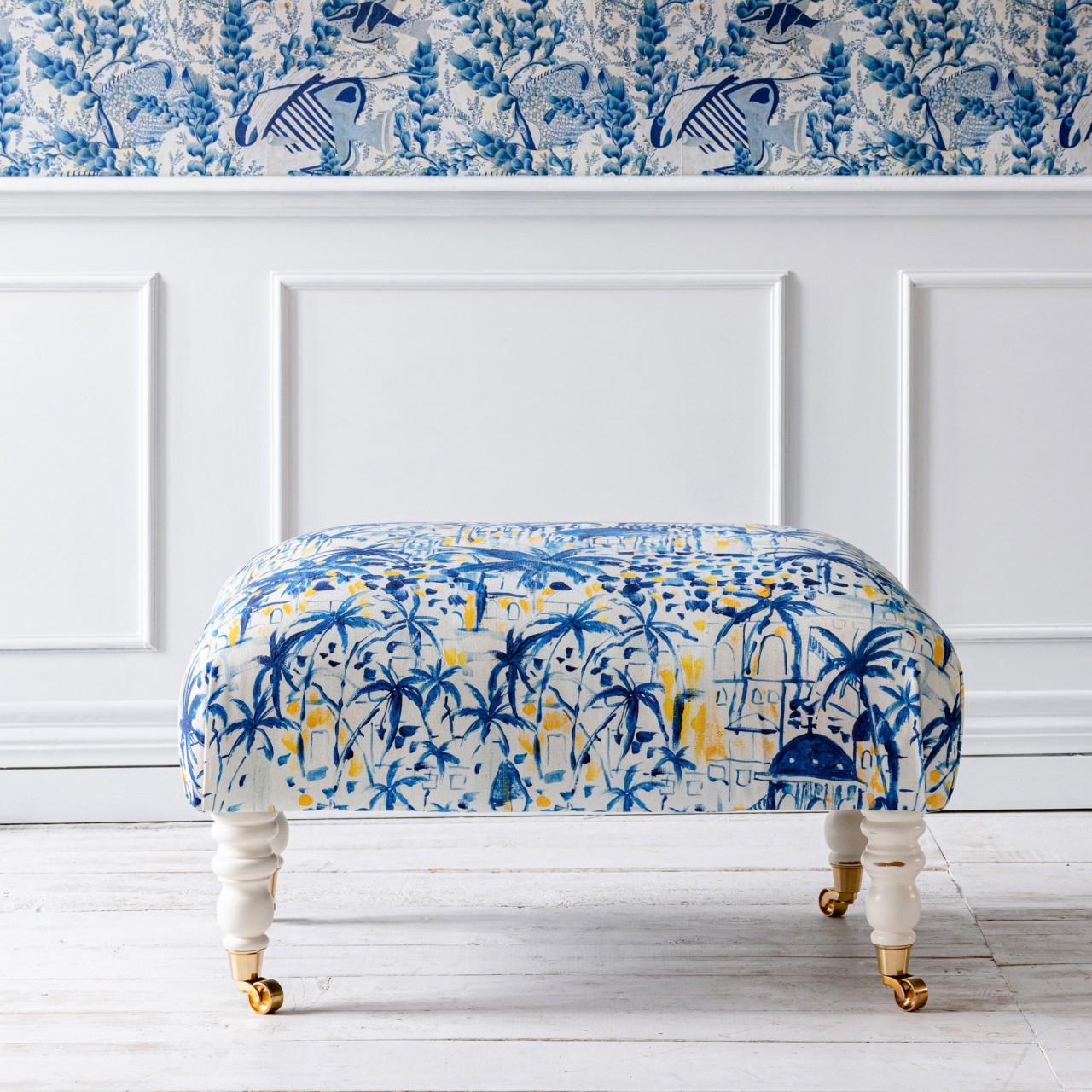 HUDSON STOOL - RHODES Fabric