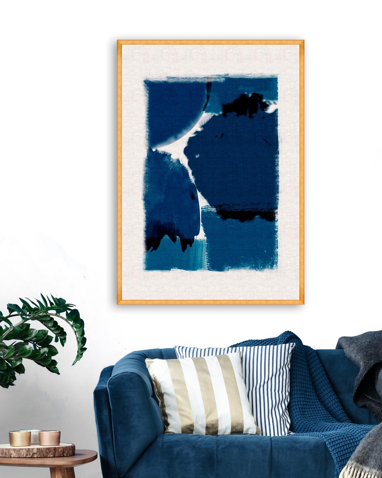 INDIGO MARVEL II Framed Art