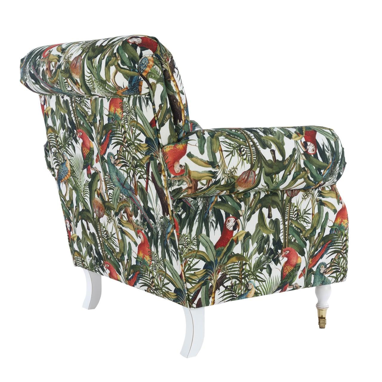 KINGSTON Chair - PARROTS OF BRASIL Linen