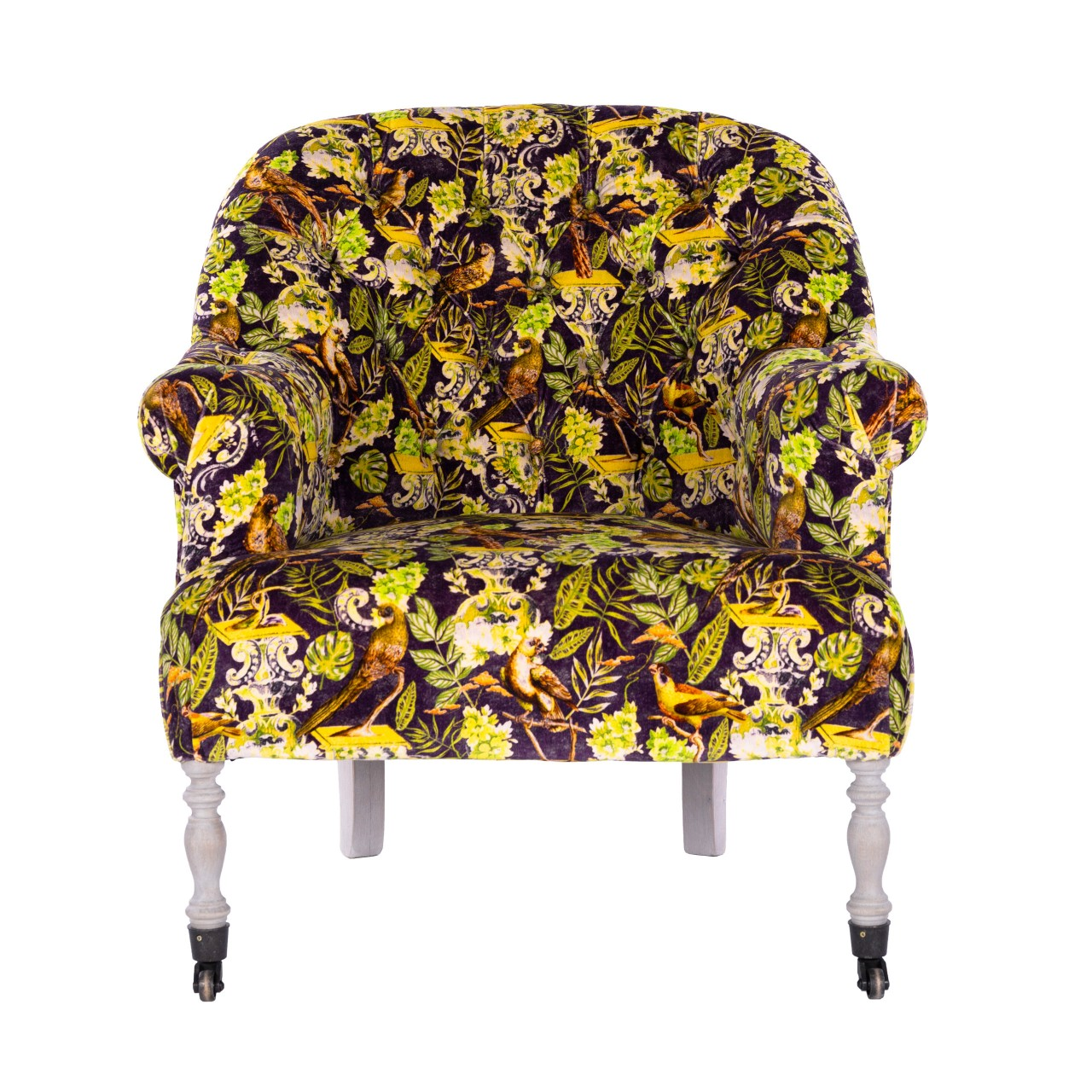 ST GERMAINE Tufted Chair - LA VOLIERE Velvet