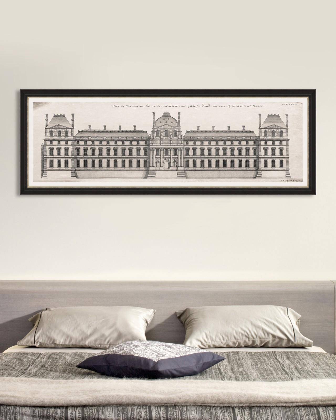 LOUVRE FAÇADE Framed Art
