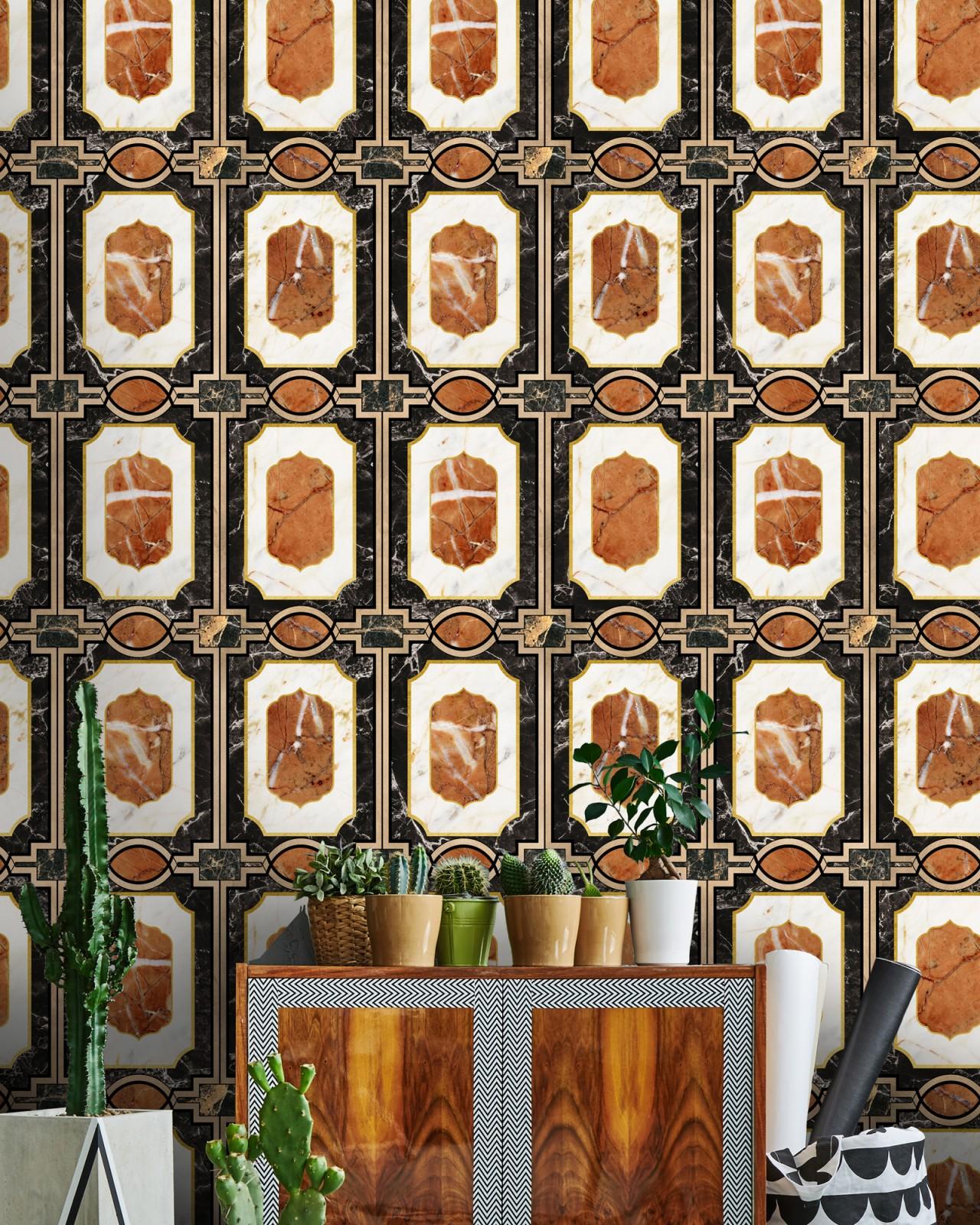 WALDORF Ochre Wallpaper