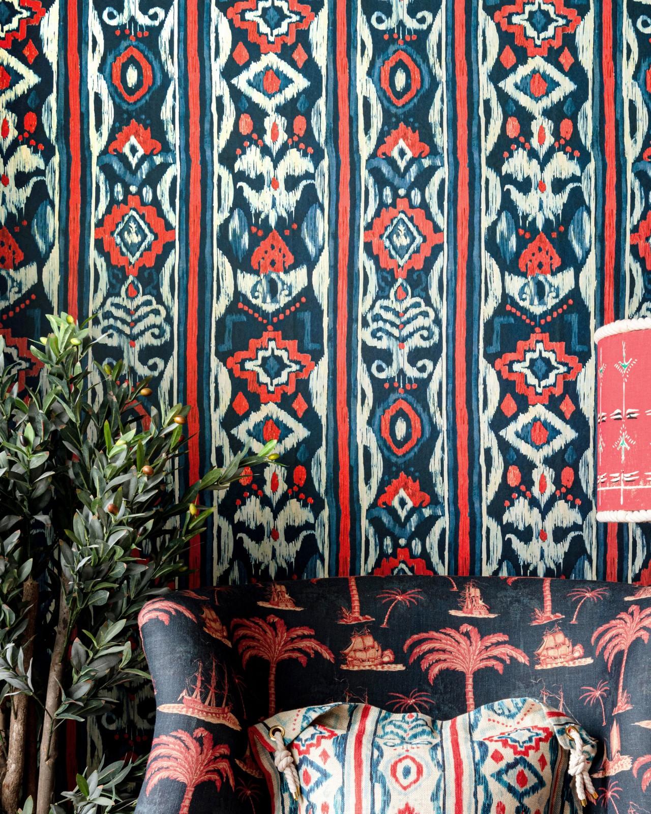 MEDITERRANEO Indigo Wallpaper