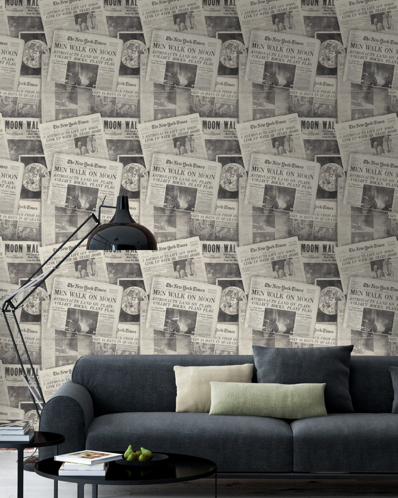 MOONWALKER Neutral Premium Wallpaper