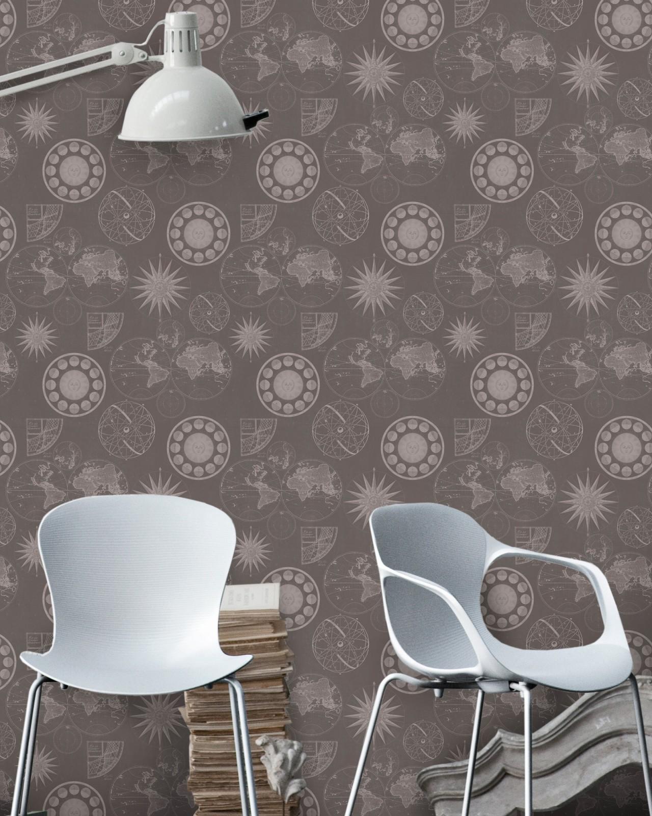NAVIGATION Brown Premium Wallpaper