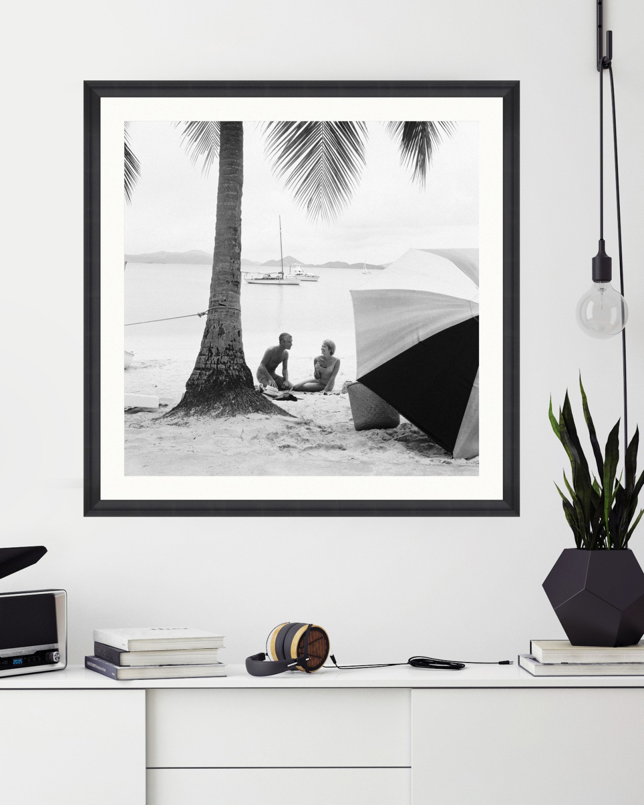 ON THE BEACH by Kelley Archive Framed Art