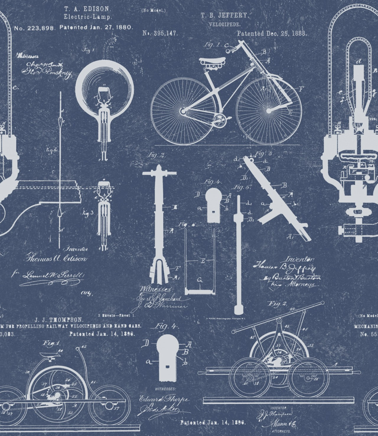 PATENTS Blue Premium Wallpaper