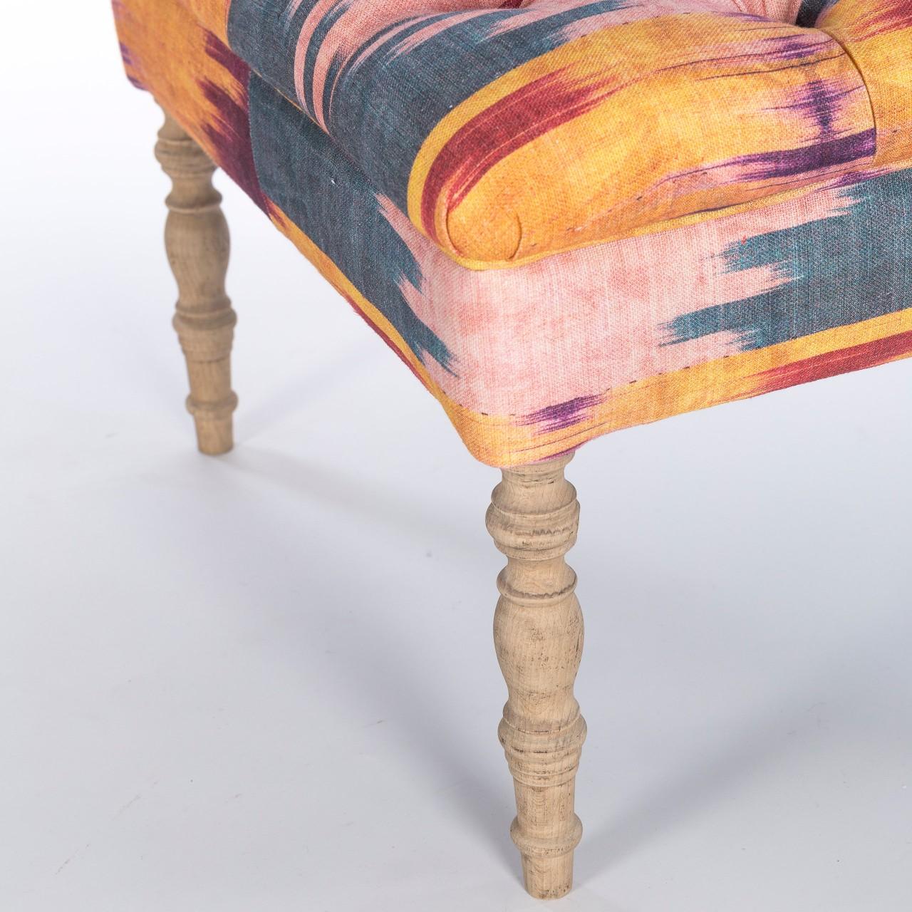 DUBOIS Tufted Ottoman - PATOLA Linen
