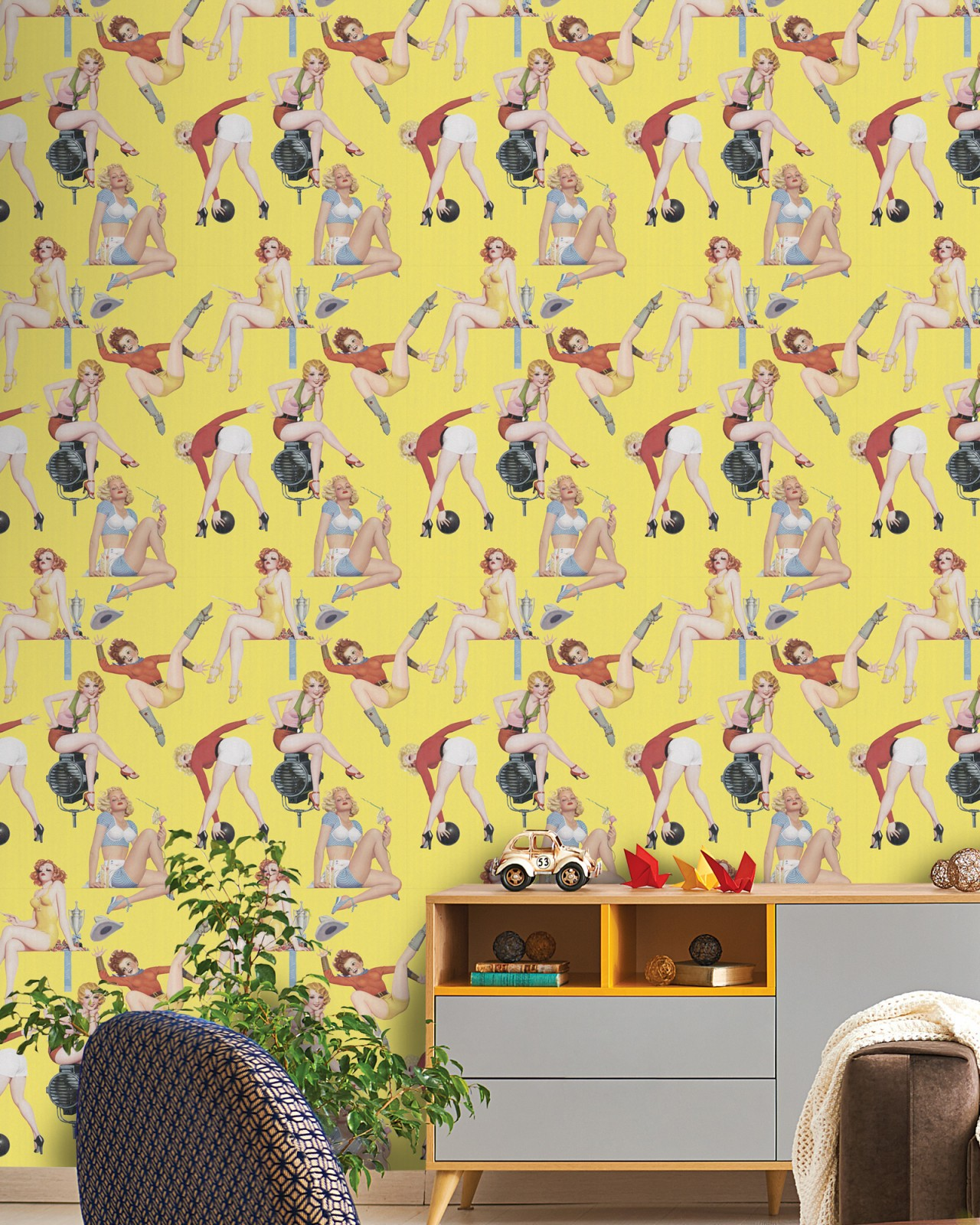 Pin Up Girls Premium Wallpaper Retro Styles Products